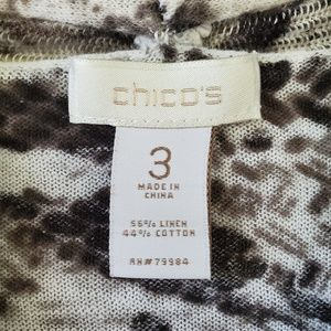 Chico's Sweaters - Chicos open front cardigan snake skin sweater 3-XL